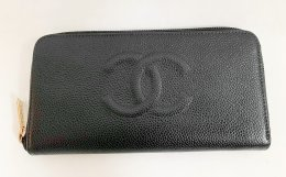 Chanel Zippy Wallet Black Caviar