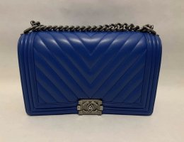 Chanel Boy 11 in Blue Calf Leather