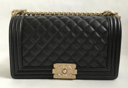 Chanel Boy Medium 10 Black Caviar