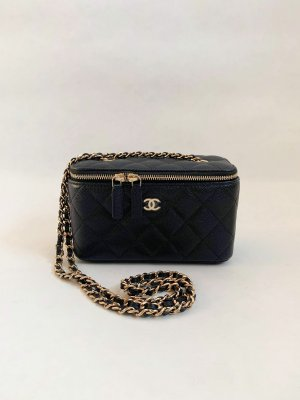 Chanel Vanity mini Crossbody in Black Caviar