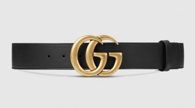 Gucci GG Belt Black Leather Size 85
