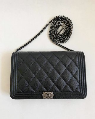 Chanel WOC in Black Caviar Ruthenium SHW