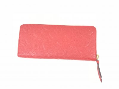 Louis Vuitton Clemence Wallet Red Emp Leather