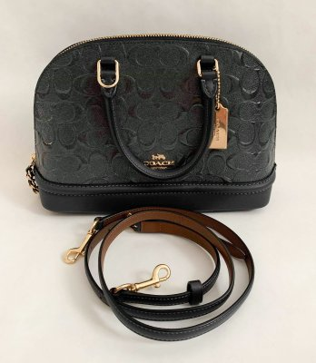 Coach Seirra mini satchel in Metallic Dark Grey