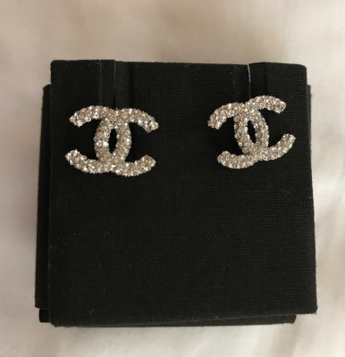 Chanel Earings With Rhinestones