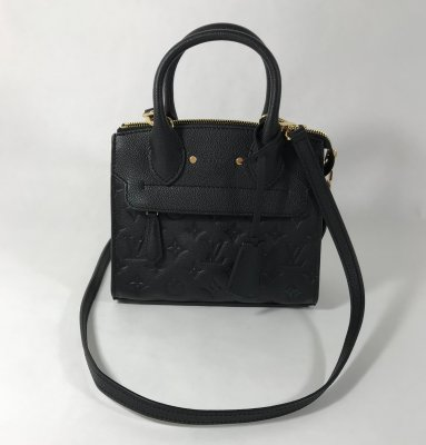 Louis Vuitton Pont-Neuf Mint Black Emp Leather