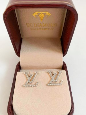 Diamond Earrings, 18K Gold