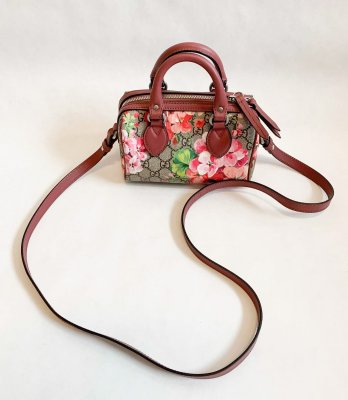 Gucci Mini Boston Bloom Printed Canvas