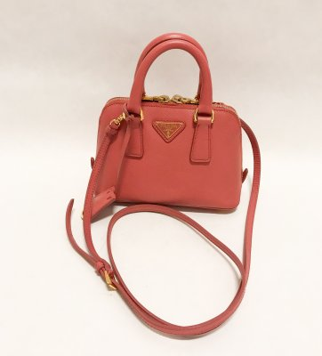 Prada Mini Alma Saffiano Leather Pink