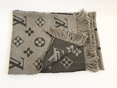 Louis Vuitton Scarf Logomania Grey