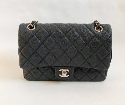 Chanel Easy 10 in Black Caviar Silver Hardware
