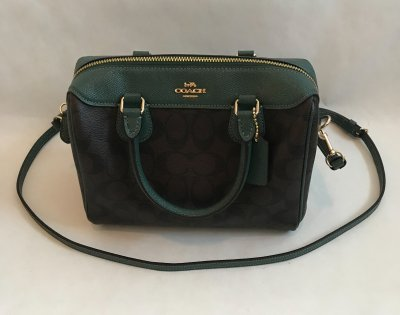 Coach Mini Bennet Satchel Green