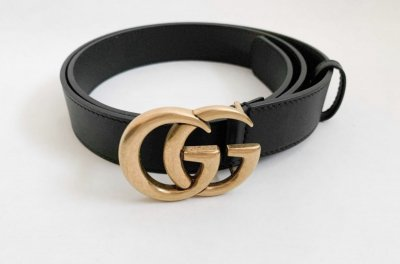 Gucci GG Black Belt Medium size 75