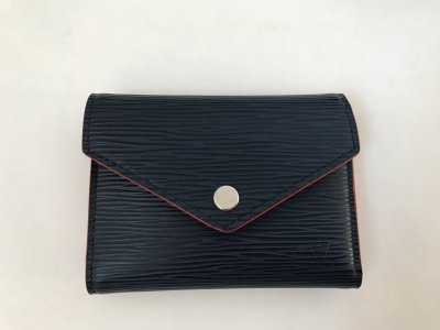 Louis Vuitton Victorine EPI Blue/Red Wallet