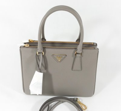 Prada Galleria in Grey Saffiano