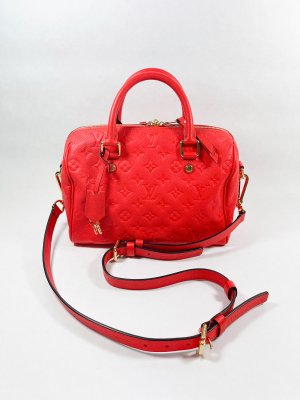 Louis Vuitton Speedy 30 Bandolier Red Empriente