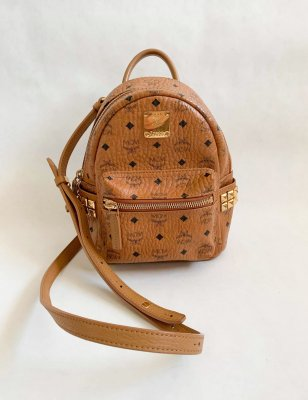 MCM Mini Backpack Brown Leather