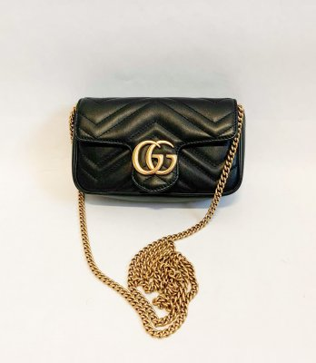Gucci Marmont Super Mini Black Leather