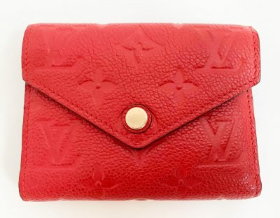 Louis Vuitton Victorine Wallet Red Empriente Leather