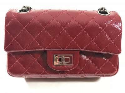 Chanel Reissue 224 in dark red washed caviar