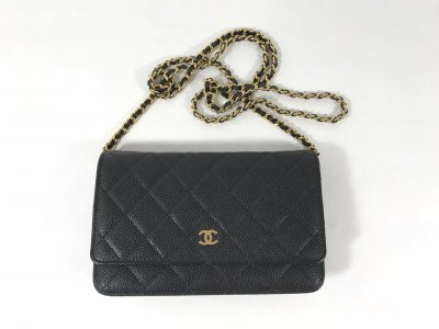 Chanel Wallet On Chain In Black Caviar GHW