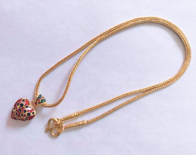 Gold 23K, Necklace 15,2g