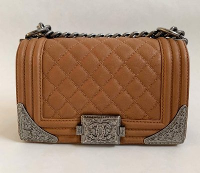 Chanel Boy 8 Caramel Calf Leather Limited