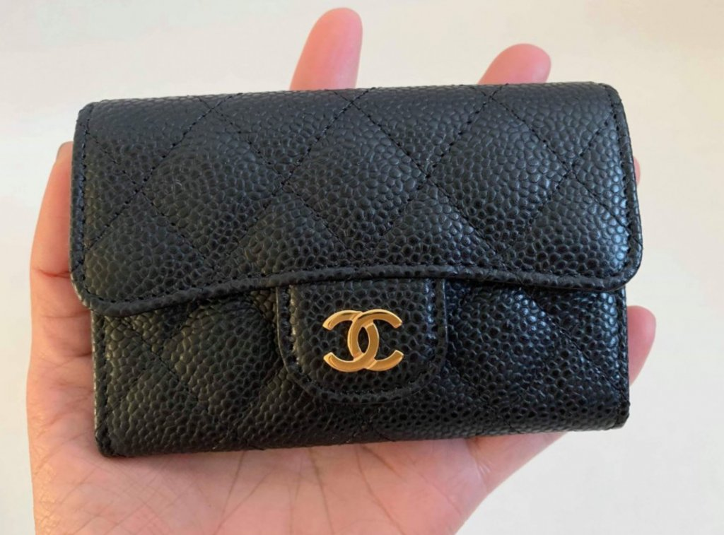 chanel classic coin purse caviar