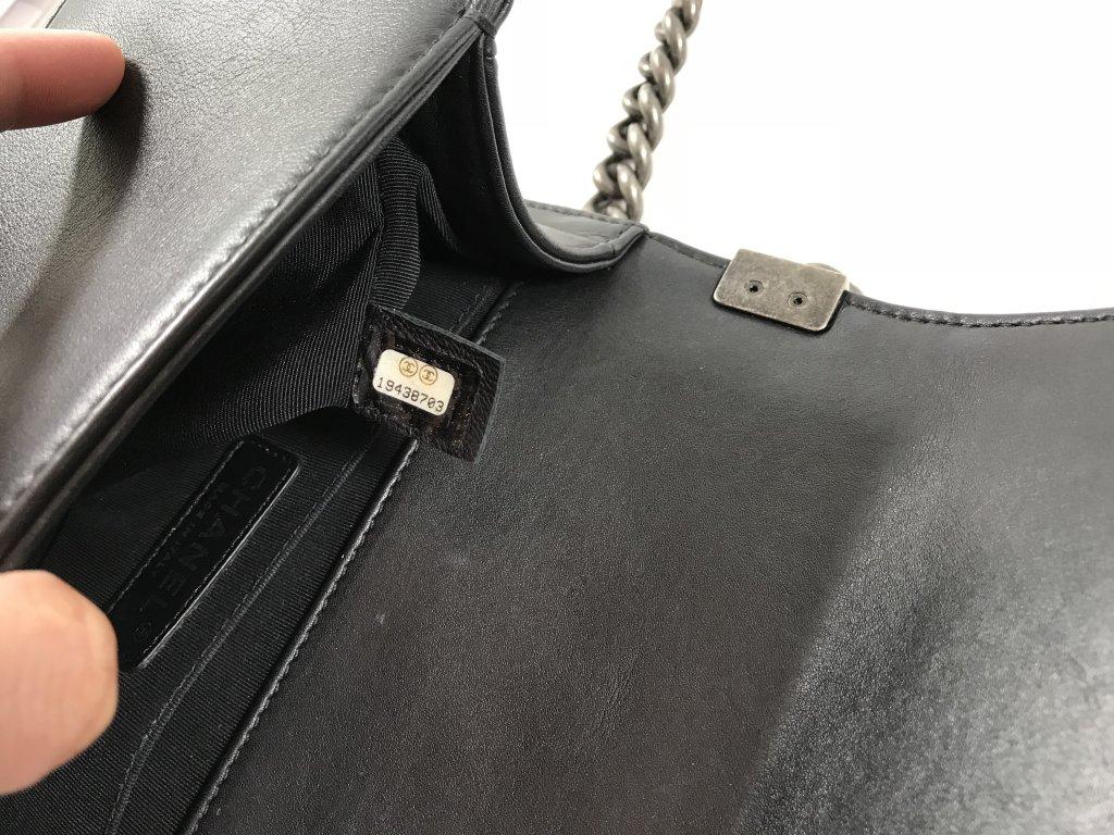 13e4ad094bf371 Chanel Boy Small 8 in Black and White Calf Leather