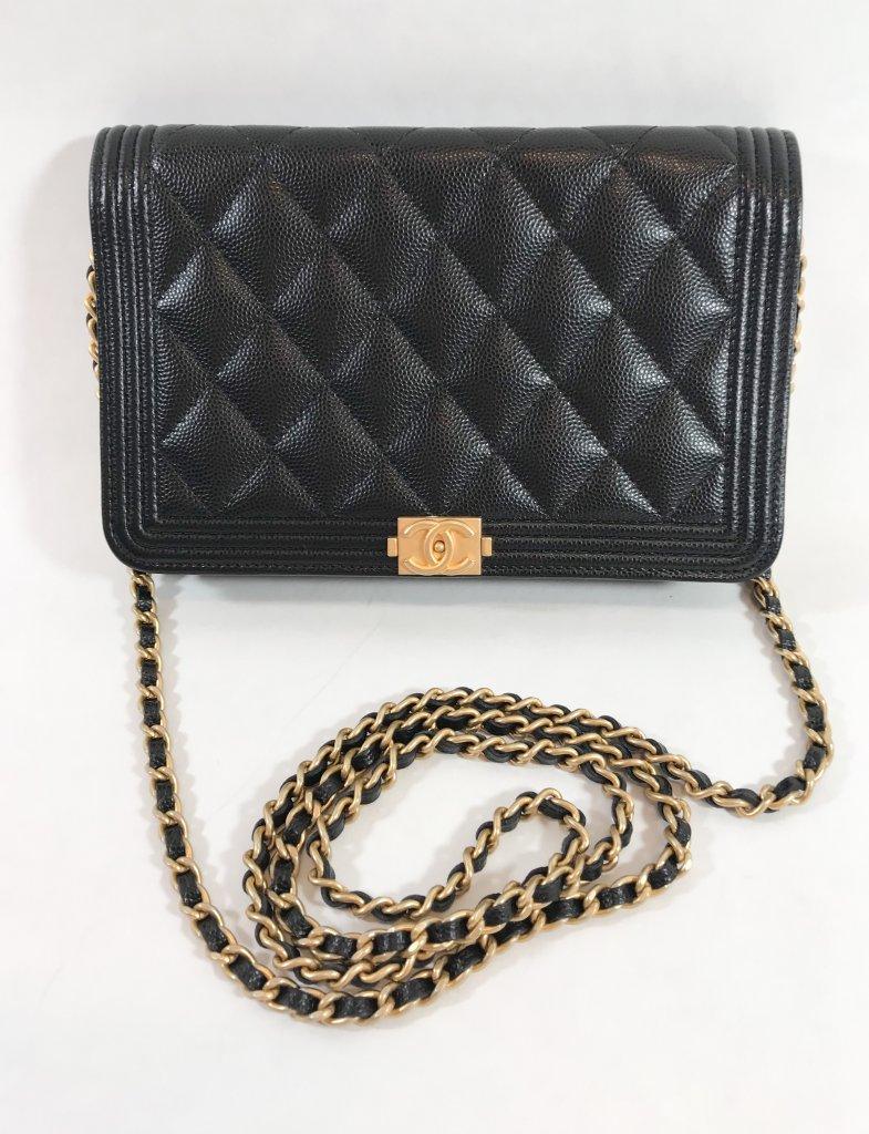 a68b4e85745851 Chanel WOC Boy Black Caviar GHW - Bags - Lyxen.se