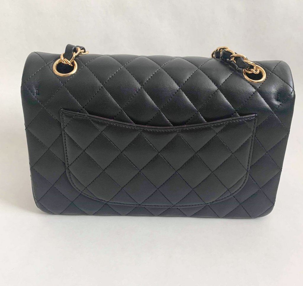 66a2dda31ade8c Chanel Classic 9 Dubble Flap Black Lamb Leather