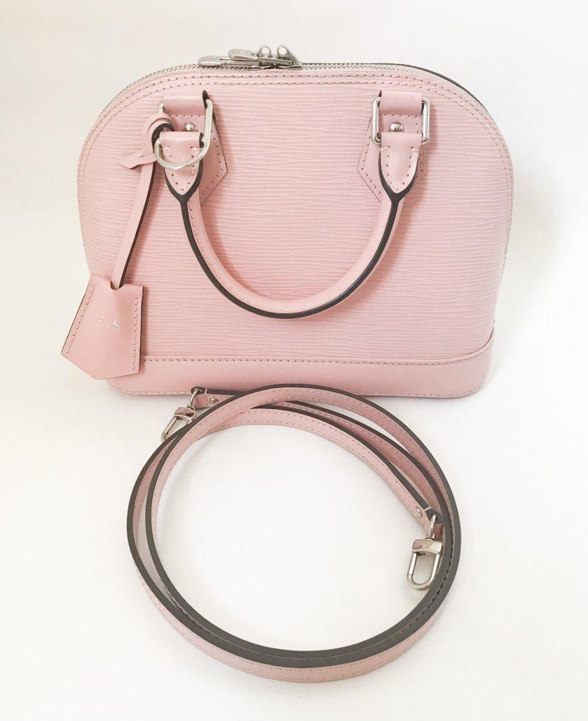 Louis Vuitton Alma Bb Pink Epi Bags Lyxen Se 08945ca089f79
