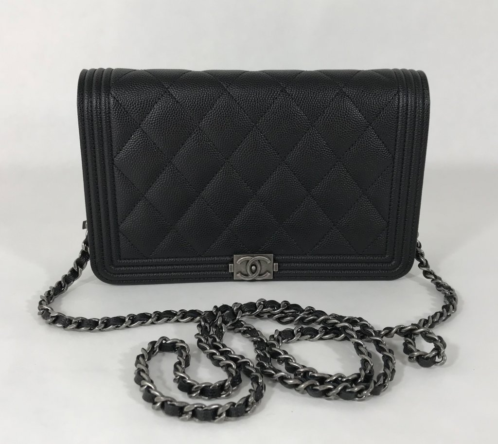 Chanel Boy Wallet On Chain Black Caviar - Lyxen.se 9987d937da77